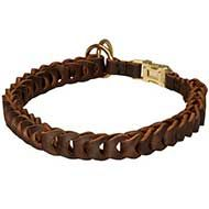 Braided Leather Siberian Husky Choke Collar for Dog Training and Behavior Correction