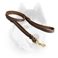 Royal Quality Braided Leather Siberian Husky leash with Two Handles