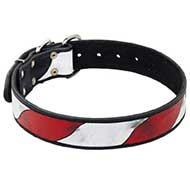 American Pride Handpainted Leather Siberian Husky Collar