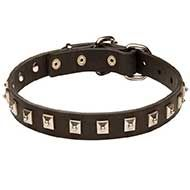 High Quality Leather Siberian Husky Collar with Nickel Studs