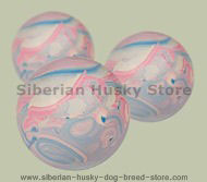 Bright Rubber Ball for active dogs - 2 1/3 inch (6 cm)