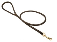Natural Rolled Leather Siberian Husky Leash