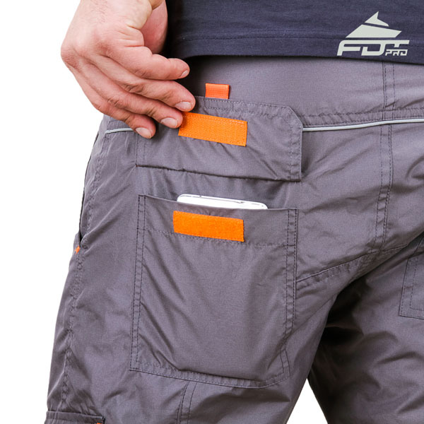 Comfy Design FDT Professional Pants with Reliable Side Pockets for Dog Training