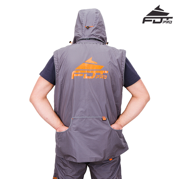 Best quality Dog Training Suit of Grey Color from FDT Pro