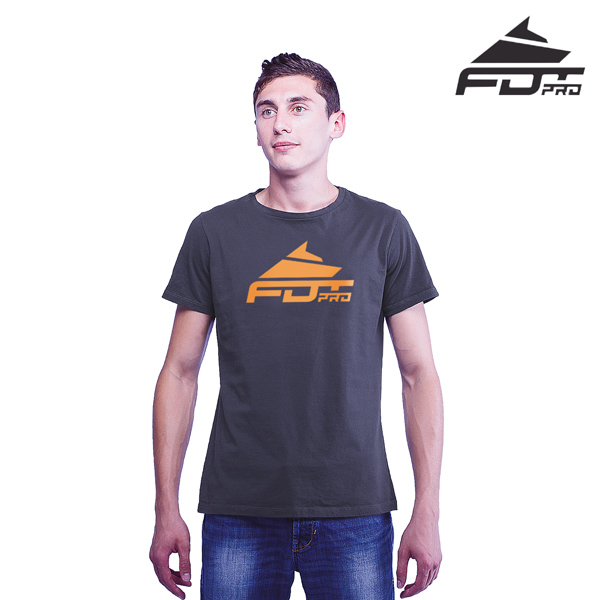 Top Quality Cotton FDT Professional Men T-shirt of Dark Grey