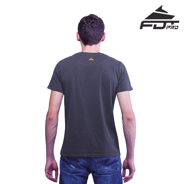 Men T-shirt of Dark Grey Pro for Dog Trainers