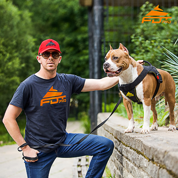 Men T-shirt of Quality Cotton with Orange Logo for Dog Trainers