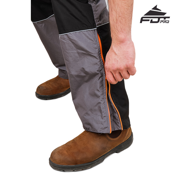 Pro Design Dog Tracking Pants with Reliable Zippers