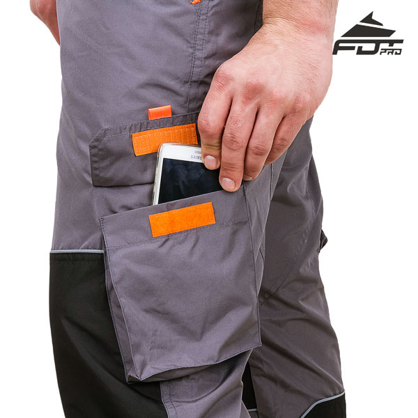 FDT Professional Design Dog Tracking Pants with Reliable Velcro Side Pocket