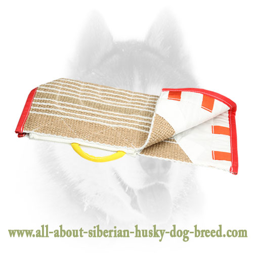 Handy jute sleeve dog cover