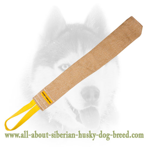 Multifunctional jute bite rag for Siberian Husky