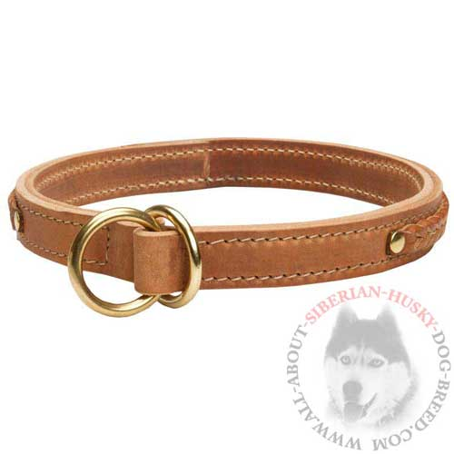 Leather Fashion Dog Choke Collar for Siberian Husky Being Obedient