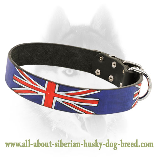 Fashion Leather Siberian Husky Collar for Walking