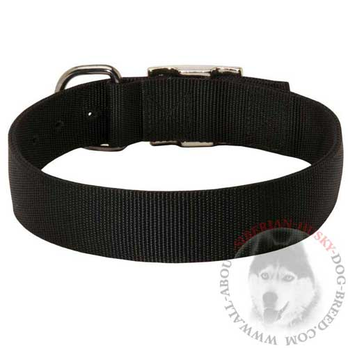 Nylon Siberian Husky Collar Heavily Stitched