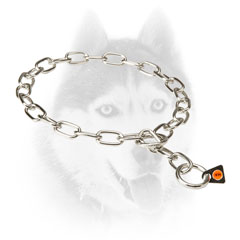 Metal Siberian Husky Collar for     obedience training