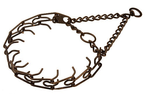 Pinch collar made in Germany- 1/6 inch ( 3.99mm ) steel - antique copper plated