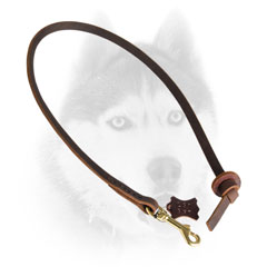 Leather Siberian Husky leash for extra control