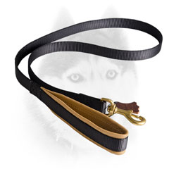 Easy walking Siberian Husky leash with Nappa padded handle