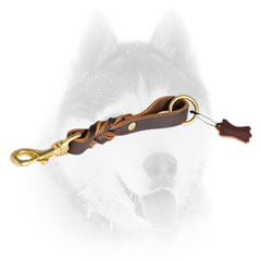 Short Siberian Husky lead with brass snap hook