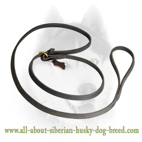 Siberian Husky Multitask Leather Leash