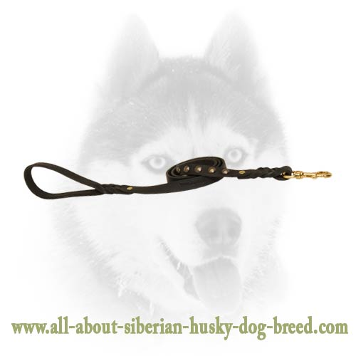 Leather Siberian Husky leash