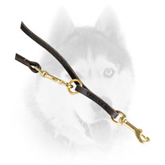 Multitask Siberian Husky lead with brass snap hook