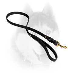 Superb leather Siberian Husky line for walking and training