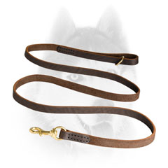 First grade leather Siberian Husky line with hard snap hook