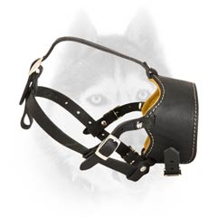 Extra quality leather muzzle