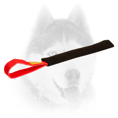 French Linen Puppy Bite Tug with Handle