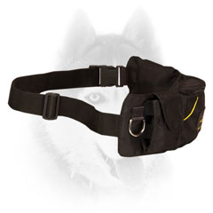 Siberian Husky Nylon Pouch with Adjustable Belt
