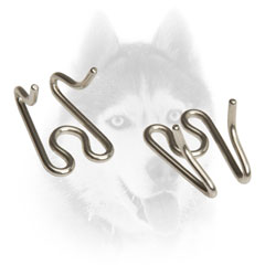 Strong link for Siberian Husky pinch     collar