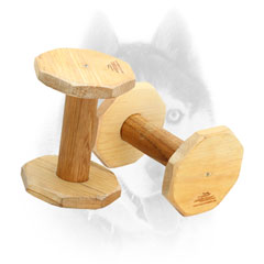 Wooden Dumbbell For Siberian Husky Retrieve Training